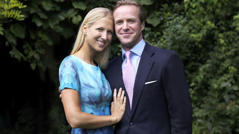 Lady Gabriella Windsor y su futuro marido, Thomas Kingston. (Reuters)