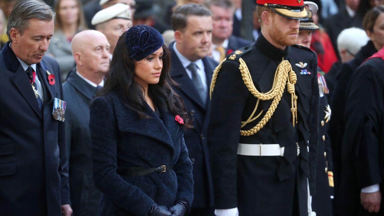 Meghan y Harry, en uno de sus últimos compromisos institucionales. (Reuters)