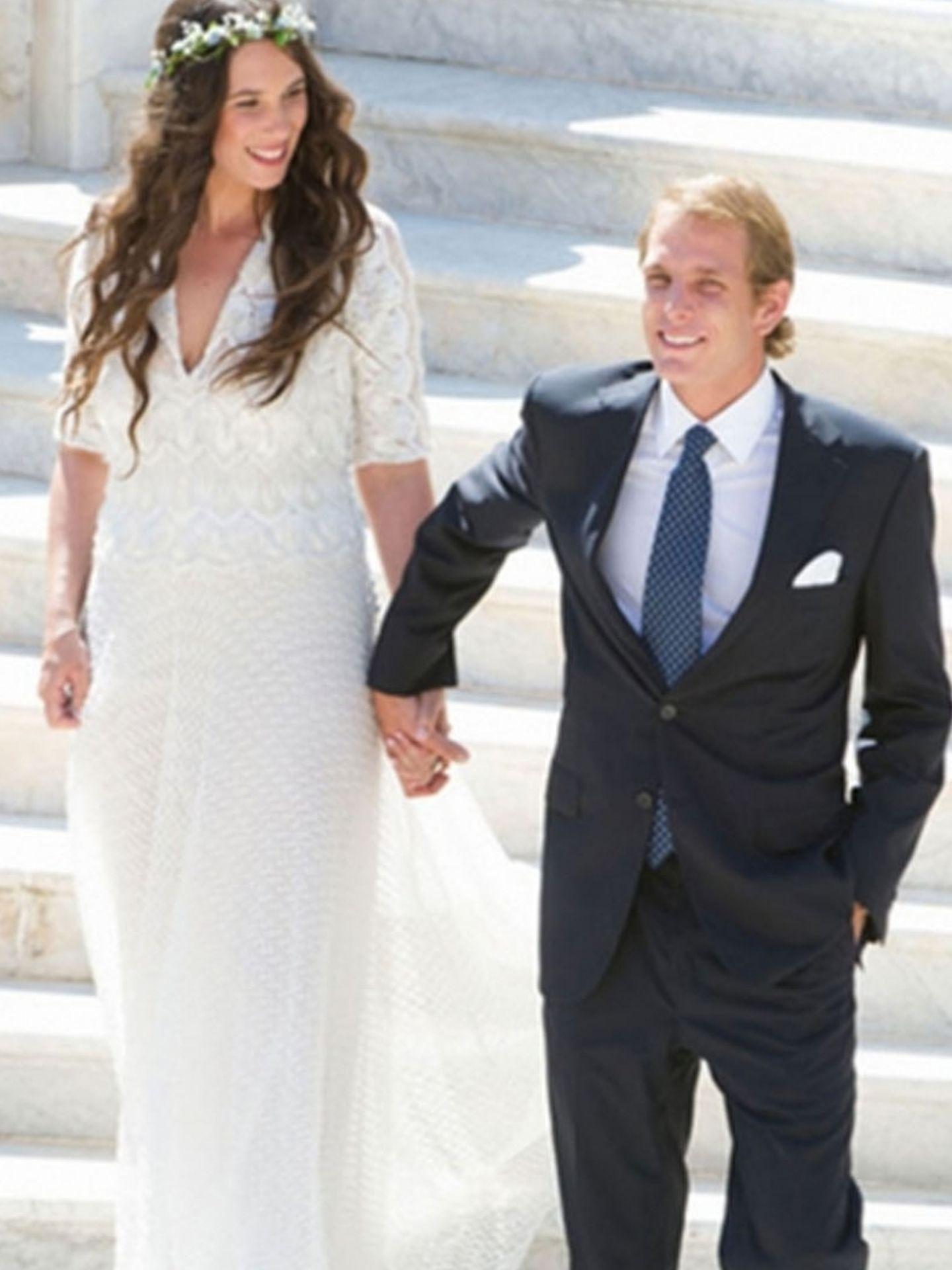 Andrea Casiraghi y Tatiana Santo Domingo en su boda civil
