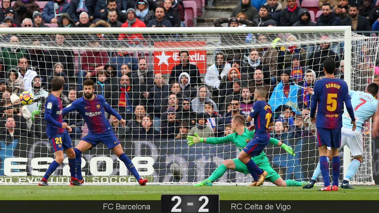 Foto: La acción del empate a dos, obra de Maxi Gómez. (Reuters)