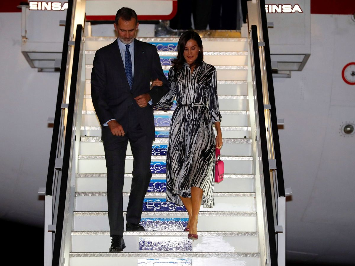 Foto: Los Reyes, a su llegada a La Habana. (Reuters)
