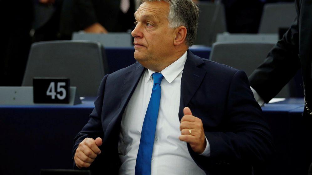 Foto: Orbán, durante el debate en la Eurocámara para pedir que se retire a Hungría su voto en la UE. (Reuters)