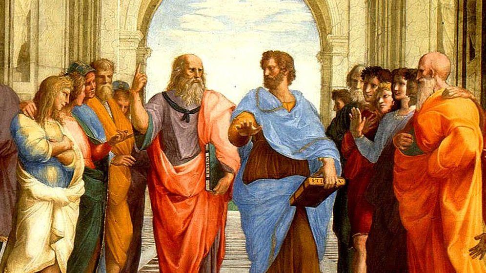 Foto: Sócrates y Aristóteles, en el cuadro 'La escuela de Atenas'.