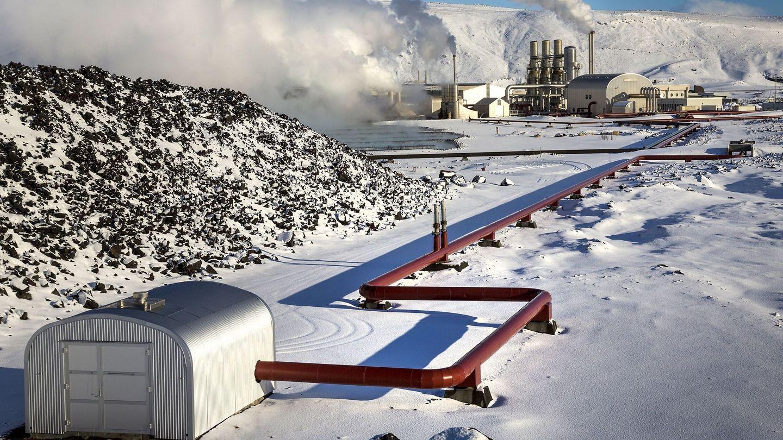 Mina de criptomonedas enganchada a una planta de energía geotérmica en Islandia. (Reuters)