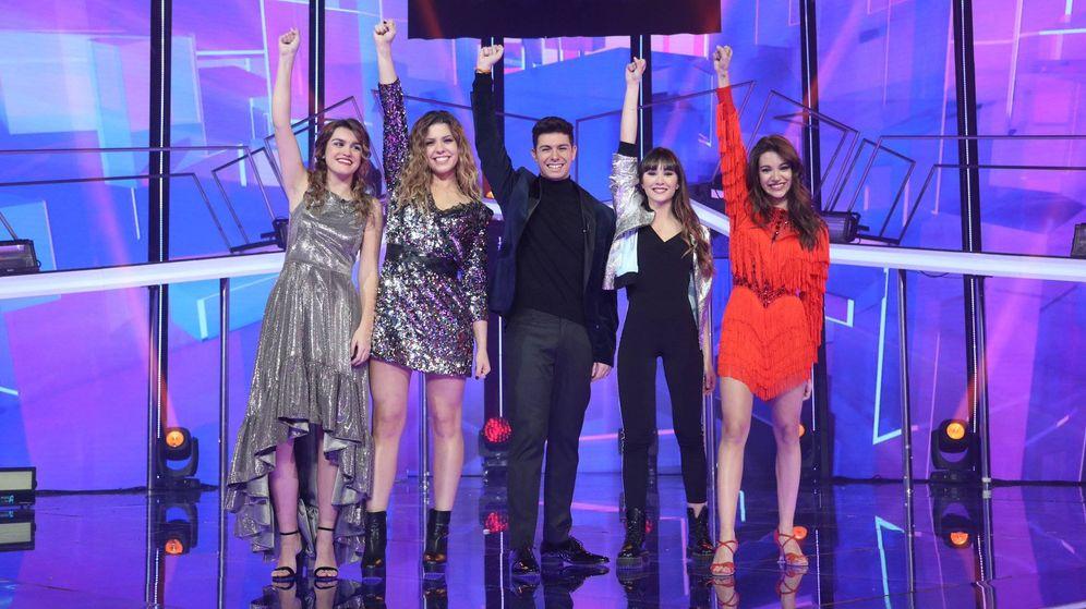 Foto: Amaia, Miriam, Alfred, Aitana y Ana Guerra, finalistas de 'OT 2017'. (RTVE)