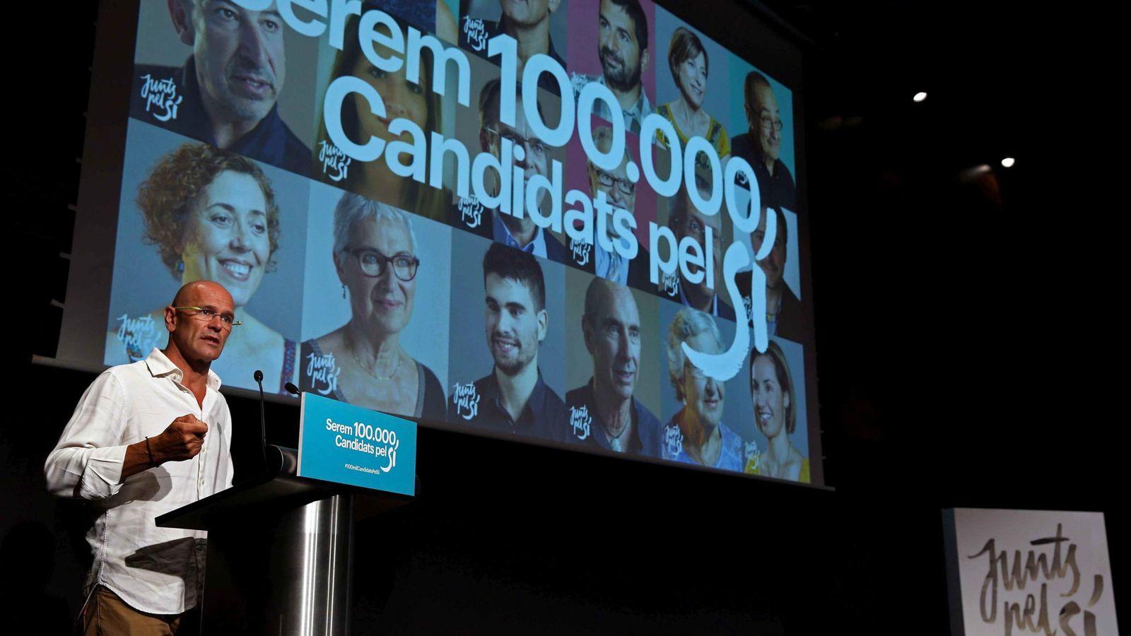 Foto: El cabeza de lista de 'Junts pel Si', Raül Romeva. (EFE)