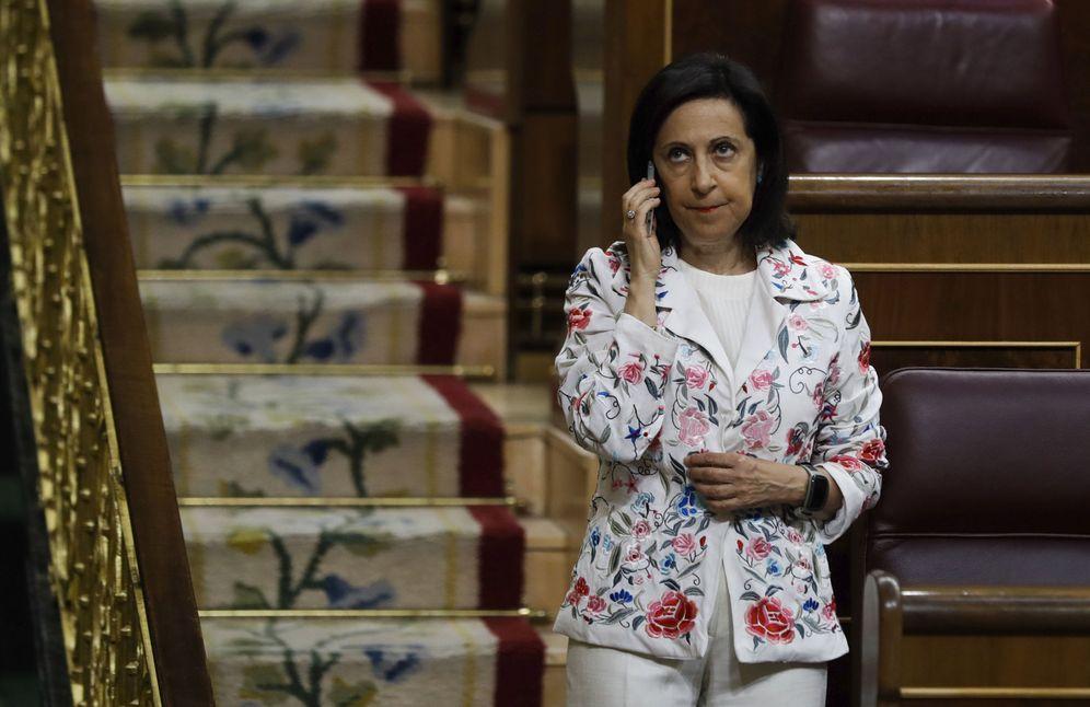 Foto: La nueva portavoz socialista, Margarita Robles, durante el pleno del pasado 22 de junio. (EFE)