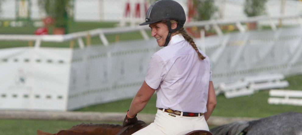 Foto: La infanta, durante una competición celebrada en Sevilla (Gtres)