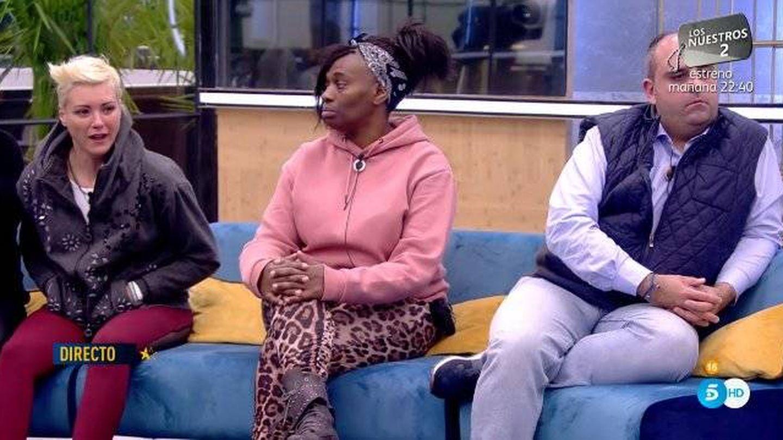 María Jesús y Julio discutiendo en 'GH Dúo'. (Telecinco)