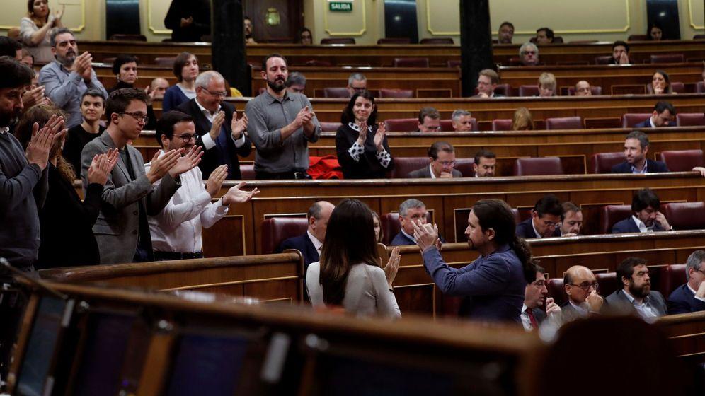 Foto: Pablo Iglesias, en el Congreso. (EFE)