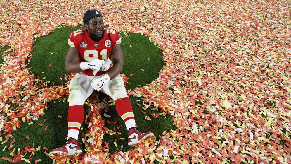 Foto: Derrick Nnadi celebra su título de la NFL. Foto:  REUTERS Shannon Stapleton