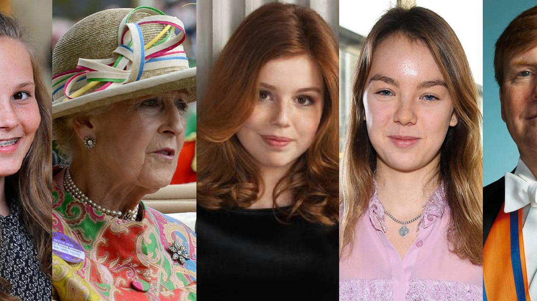 Alexandra de Luxemburgo, Ingrid Alexandra de Noruega, Alexandra de Kent, Alexia de Holanda, Alexandra de Hannover, el rey de Holanda y Alexander de Suecia.