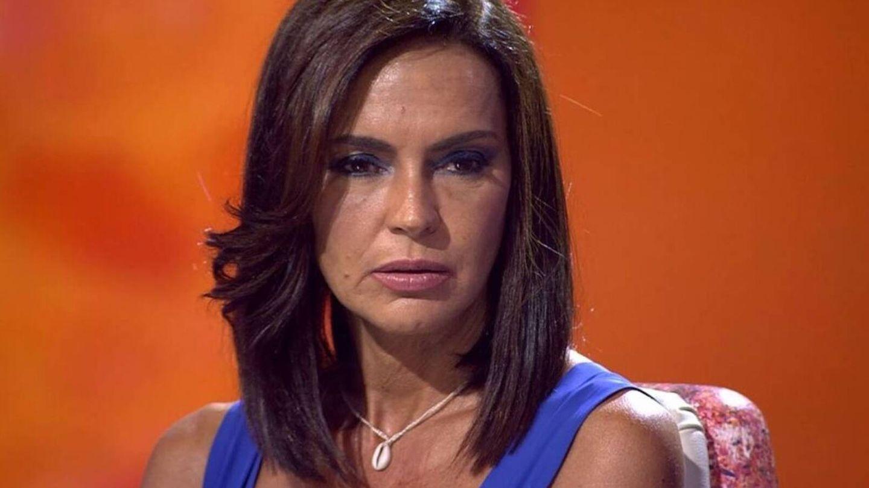 Olga Moreno, durante un momento de su entrevista en Telecinco. (Mediaset)