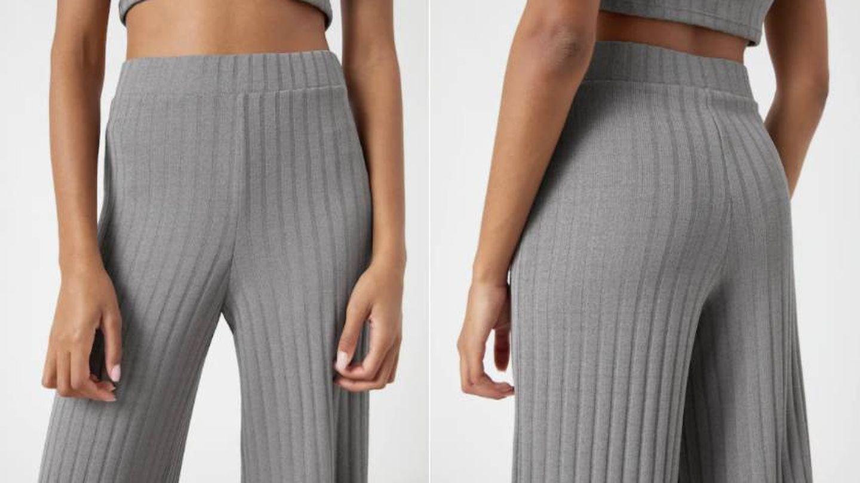 Conjunto de pantalón top y rebeca de Pull and Bear. (Cortesía)