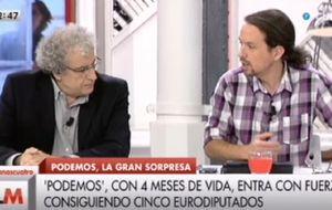 Pablo Iglesias anota récord histórico en 'Las mañanas de Cuatro'