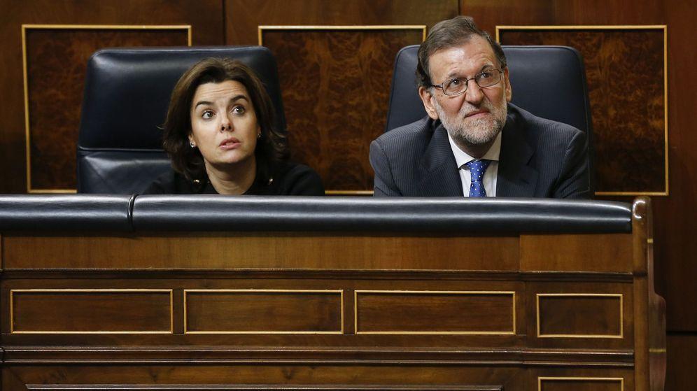 Foto: Soraya Sáenz de Santamaría y Mariano Rajoy. (EFE)