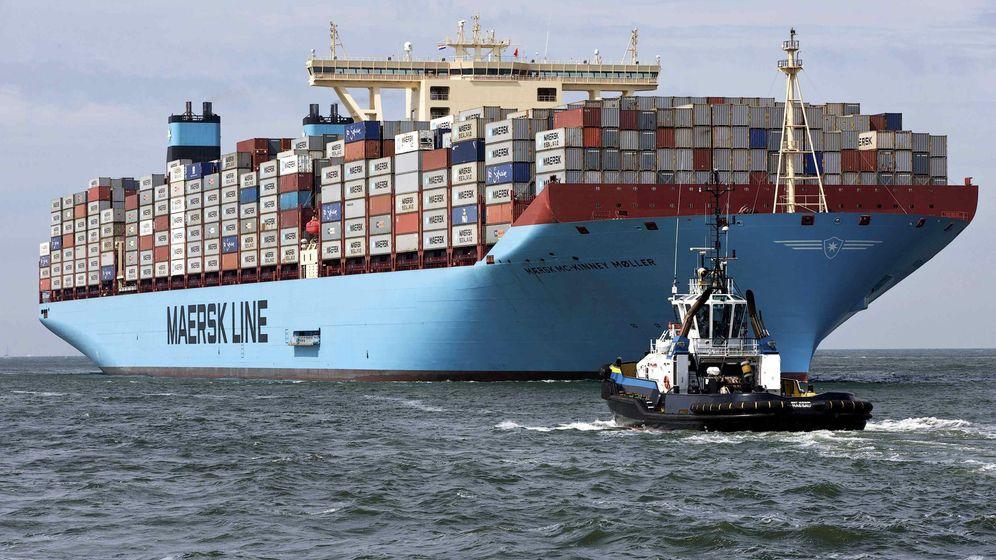 Foto: Un buque Triple-E de Maersk, el Mc-Kinney Moller, fletado en 2013. (EFE)