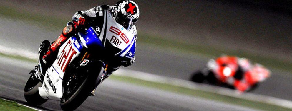 Foto: Lorenzo es tercero en una carrera dominada por Stoner