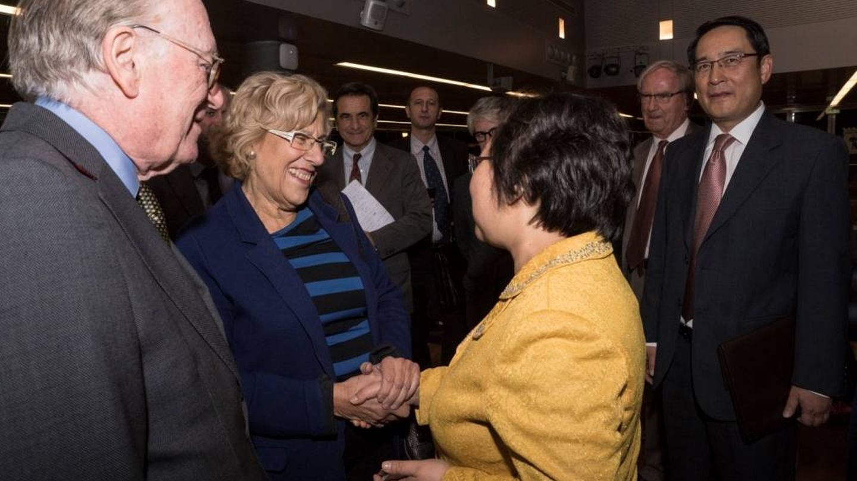 Manuela Carmena durante el seminario celebrado el 16 de noviembre de 2016. (Fundación Alternativas)