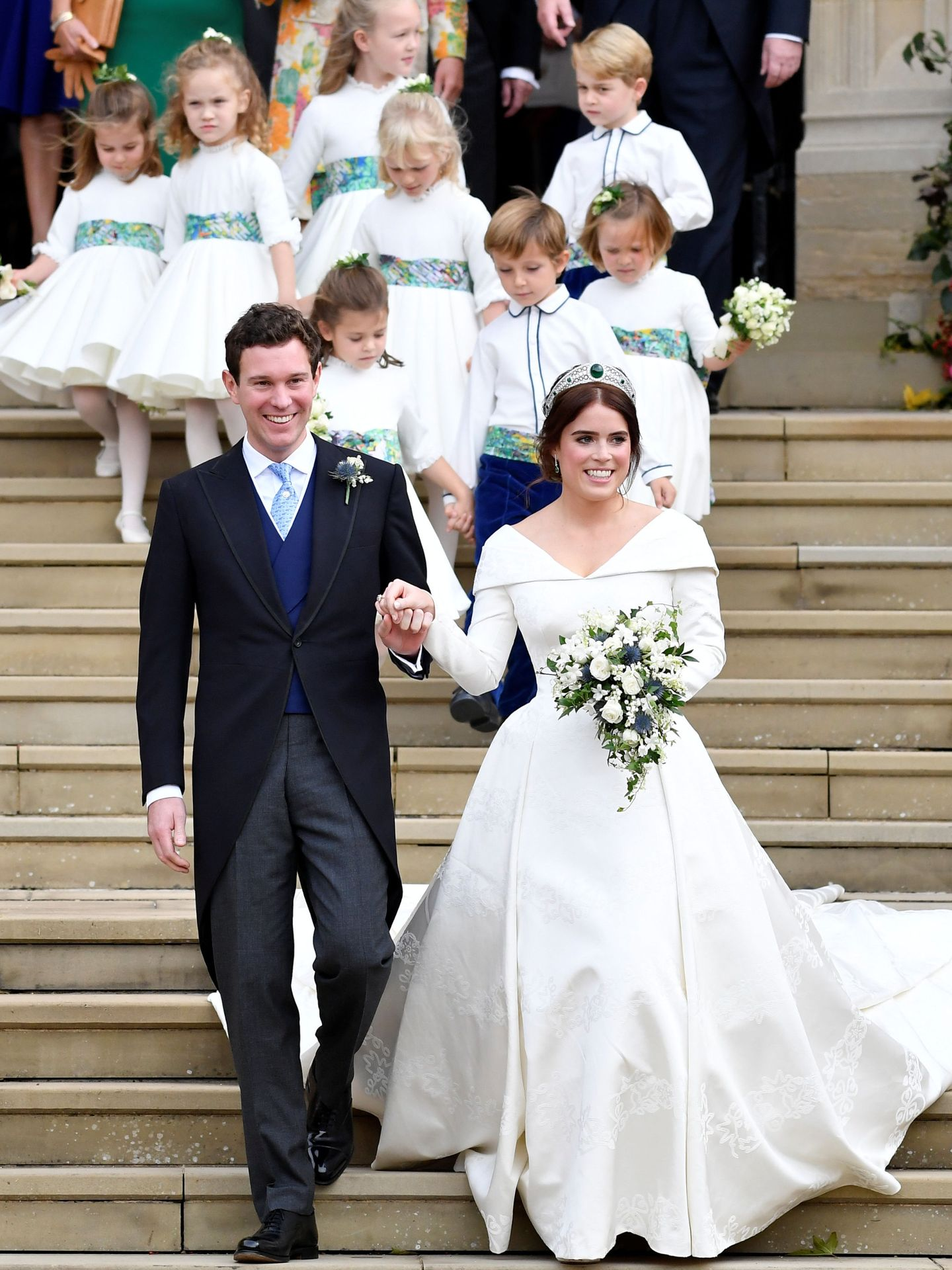 La boda de Eugenia y Jack Brooksbank. (Reuters)