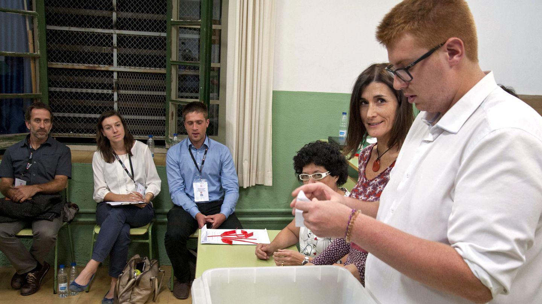 Recuento de votos tras el referéndum del 1 de octubre. (EFE)