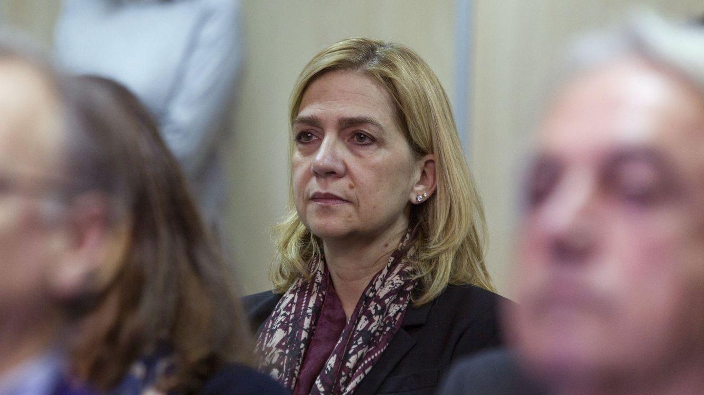 Foto: Cristina de Borbón en el banquillo de los acusados (Gtres)