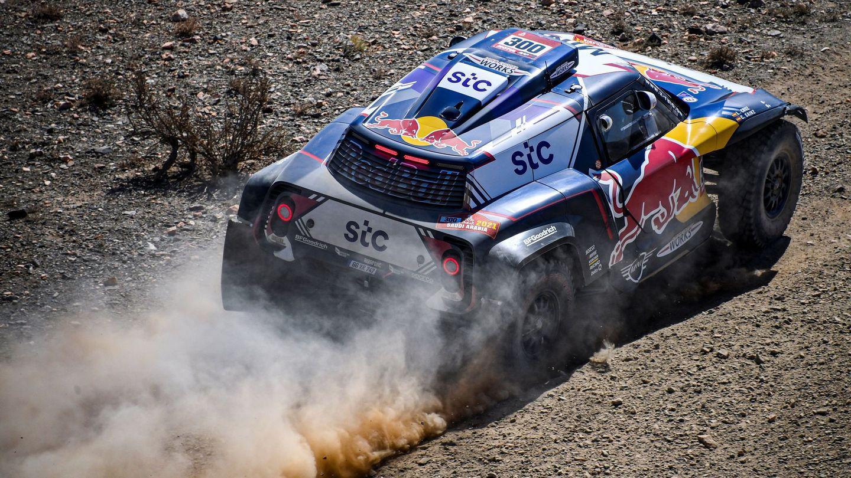 Carlos Sainz durante el Rally Dakar 2021. (Efe)