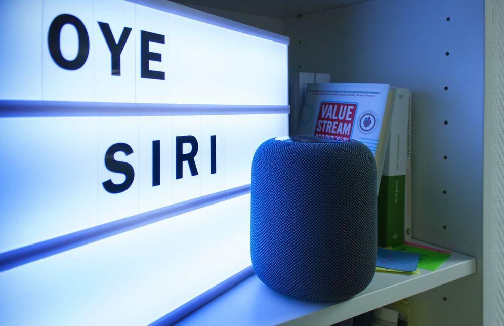 Foto: 'Oye Siri...', el comando para activar el Homepod. (E. Villarino)