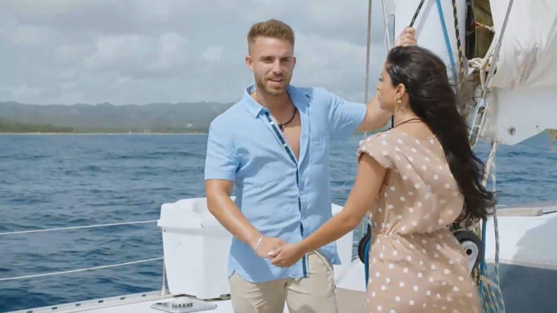 Ángel e Inma, en 'La isla de las tentaciones 2'. (Mediaset)