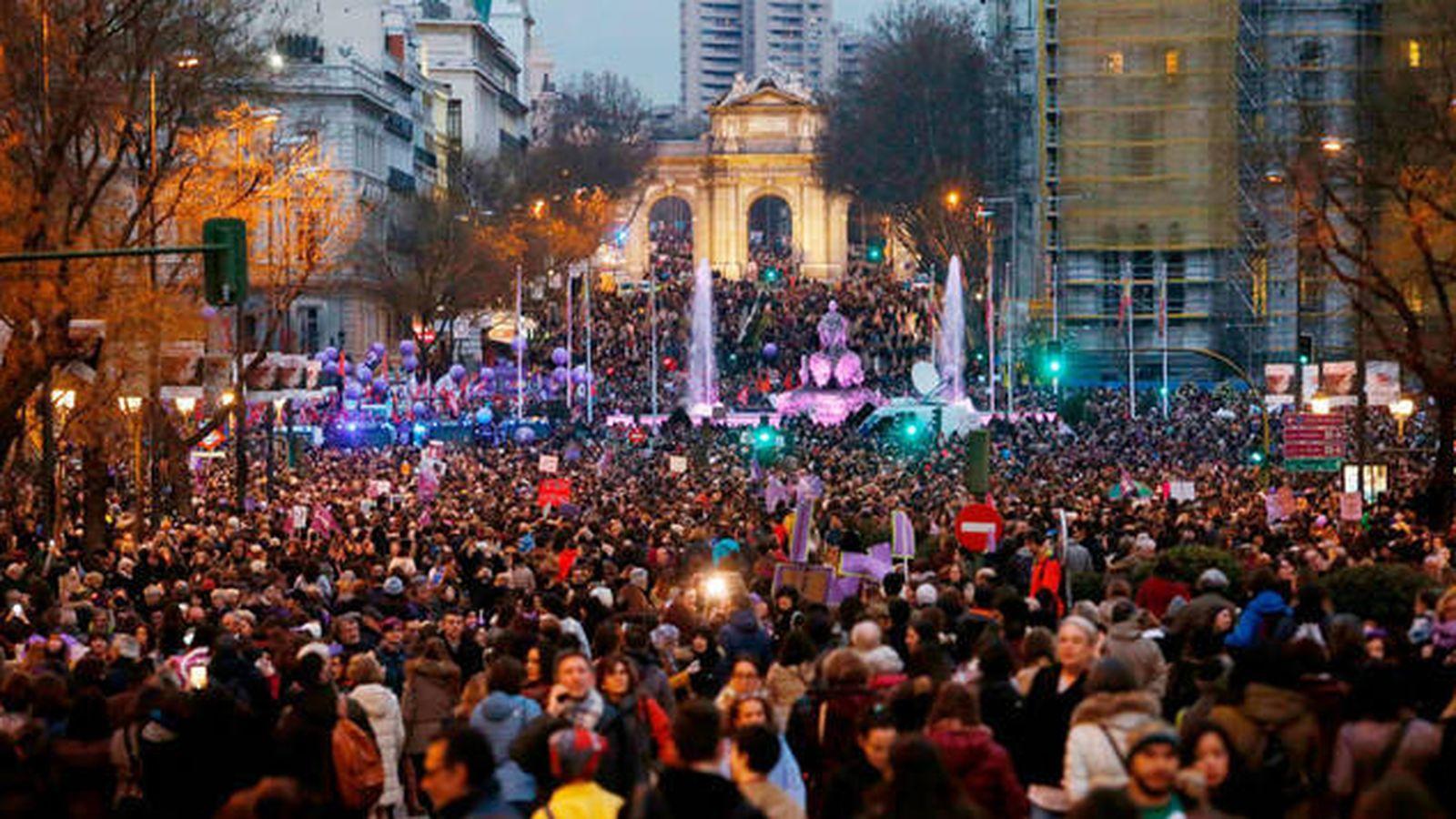 Foto: Manifestación del 8M 2018 en Madrid. (Cordon Press)