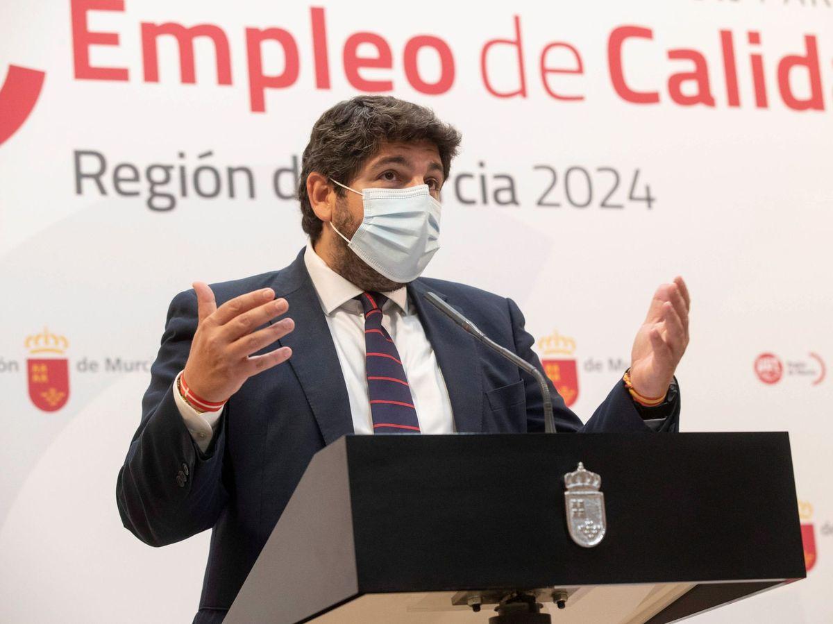 Foto: Fernando López Miras, presidente de la Región de Murcia. (EFE)