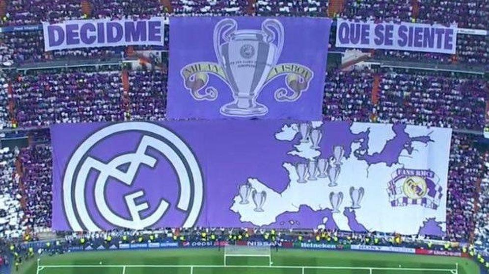 Foto: Tifo de la Grada Fans del Bernabéu