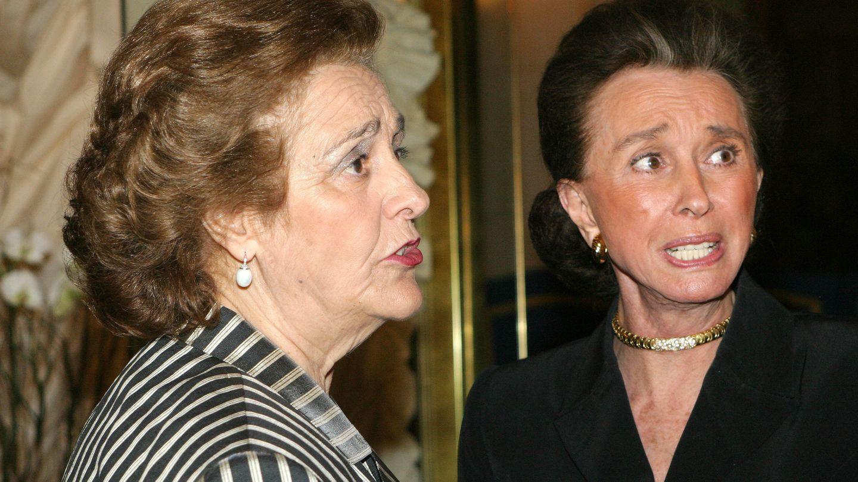 Teresa Rivero junto a Aline Griffith, condesa de Romanones, en una foto de archivo