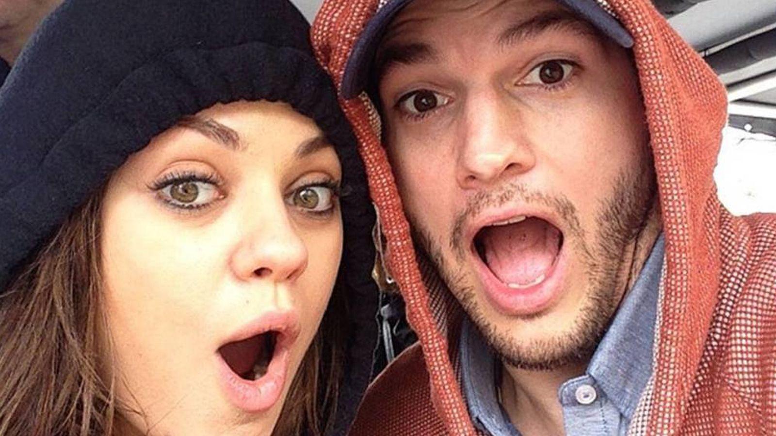 Foto: Ashton Kutcher y Mila Kunis en una imagen de archivo de sus redes sociales.