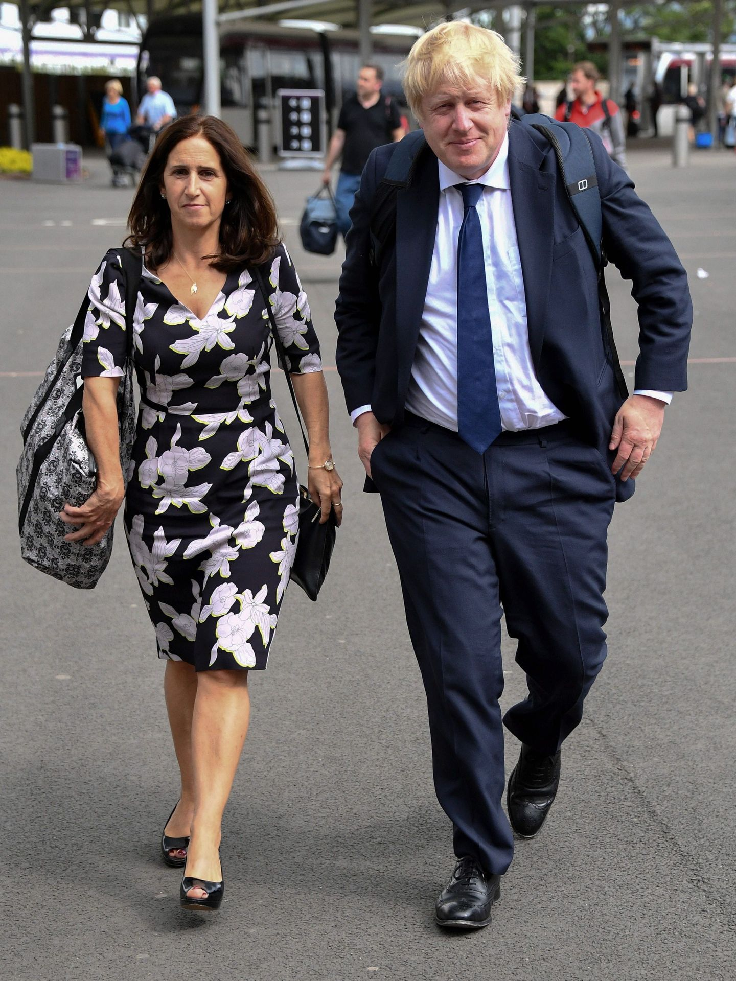 Boris Johnson y su exmujer, Marina Wheeler. (EFE)