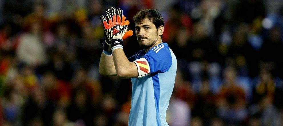 Foto: Iker Casillas, durante el partido amistoso de la selección española frente a Alemania.