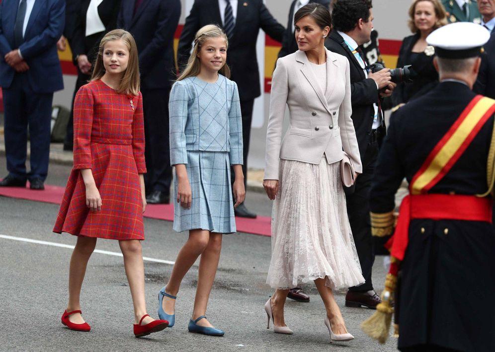 Foto:  Letizia, con sus hijas. (Reuters)