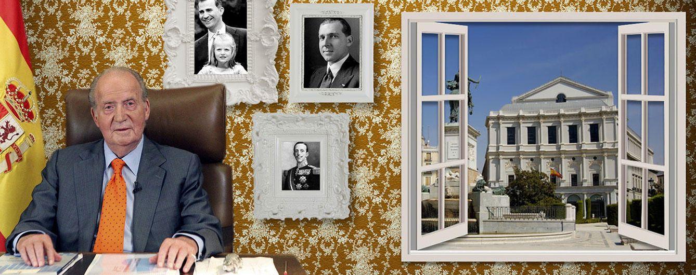 Foto: El Rey Don Juan Carlos en su futuro despacho en un fotomontaje realizado en 'Vanitatis'
