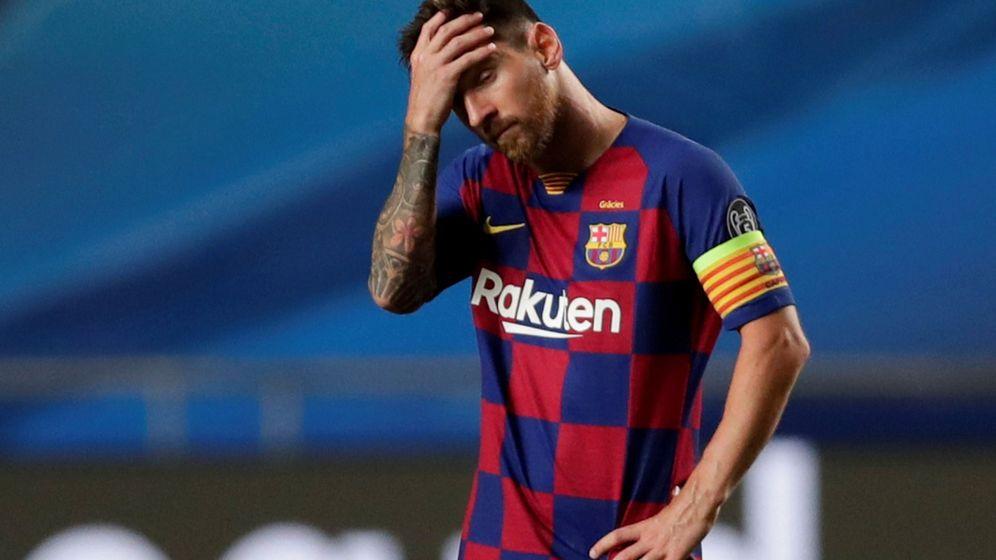 Foto: Leo Messi se lamenta por una ocasión en mitad de un partido. (Reuters)