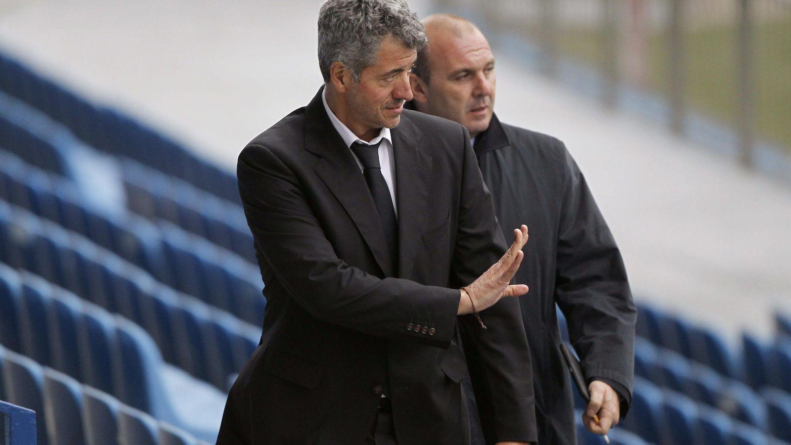 Foto: Gil Marín en un entrenamiento del Atlético de Madrid. (EFE)