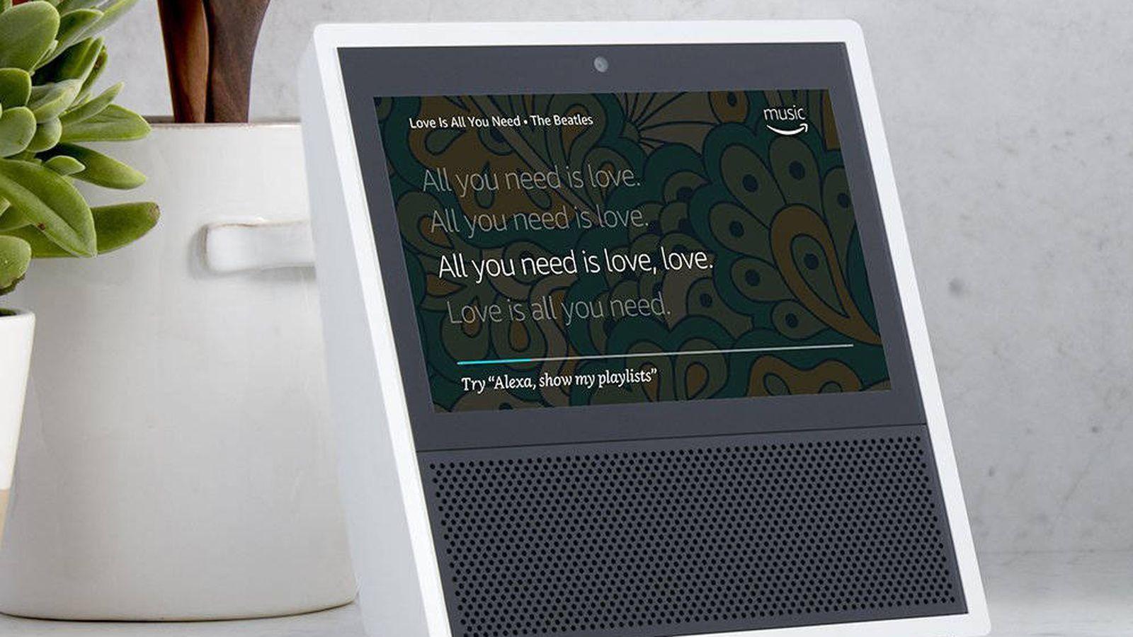 Foto: Alexa ahora también tiene una pantalla táctil. (Amazon)