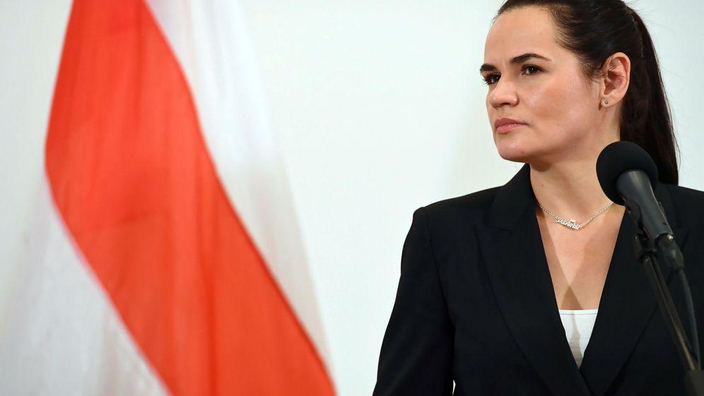 Foto: Sviatlana Tsikhanouskaya, jefa de la oposición bielorrusa, en Polonia. (Reuters)
