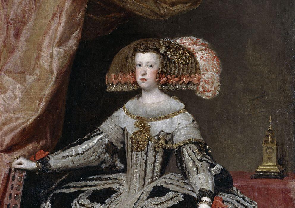 Foto: Mariana de Austria, reina de España, retrato de Diego Velázquez, de 1652.