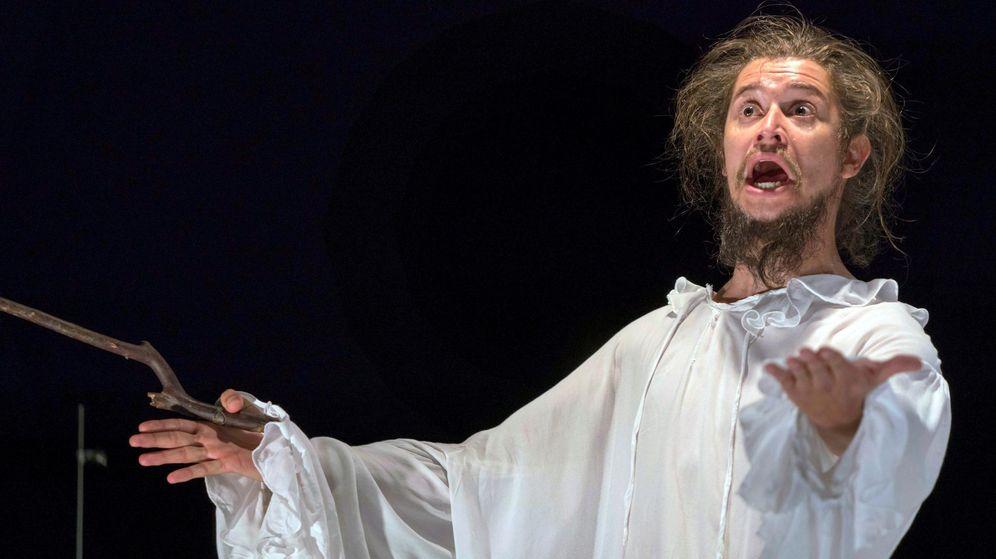 Foto: La obra 'Quijote, espejo del hombre', en el pasado Festival de Almagro. (Efe)