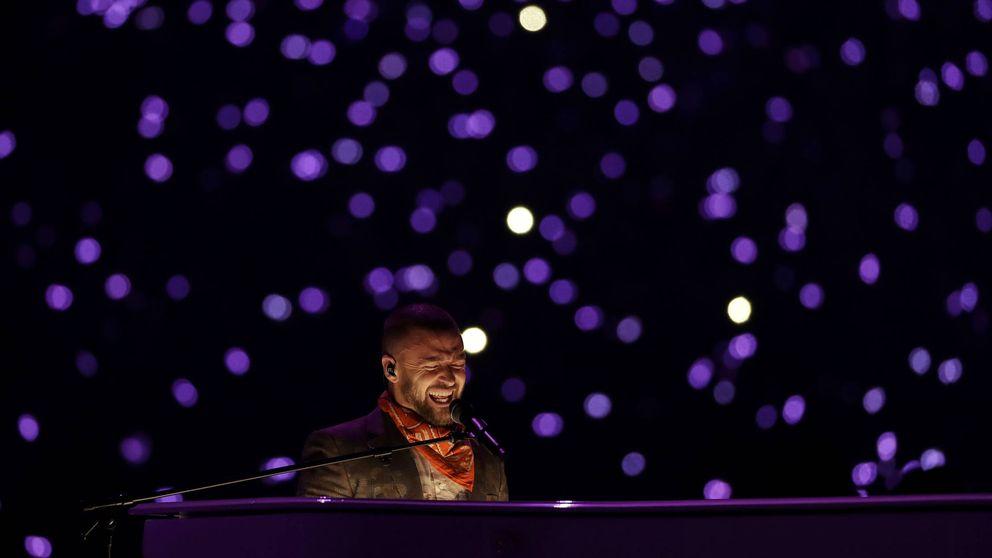Timberlake en la Super Bowl: guiño al pecho de Janet y homenaje a Prince