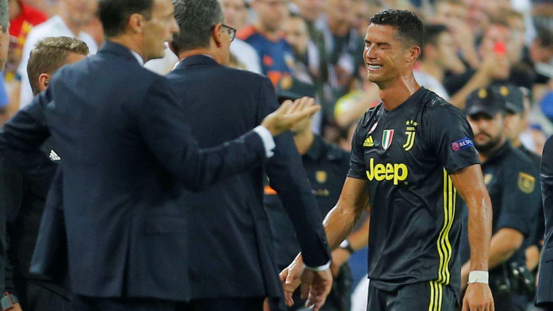 Foto: Cristiano Ronaldo rompe a llorar tras su expulsión en Champions