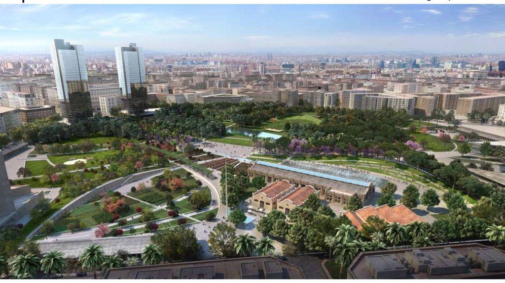 Foto: Simulación del proyecto paisajístico de Gustafson para el Parque Central de Valencia.