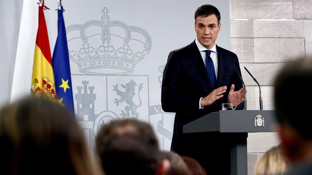 Foto: El presidente del Gobierno, Pedro Sánchez, en La Moncloa (Efe)