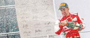Foto: Fernando Alonso mete la primera 'goleada' a bordo de un Ferrari