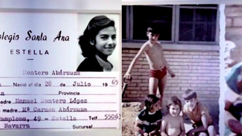 Imágenes de la infancia de Mariló emitidas en el programa